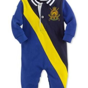 RALPH LAUREN BABY BOYS COVERALL BLUE 6M