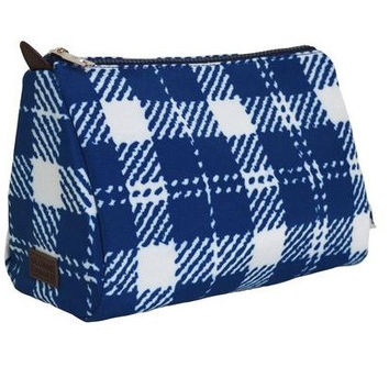 classic check cosmetic pouch