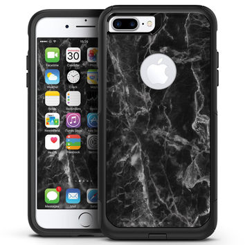 Smooth Black Marble - iPhone 7 or 7 Plus Commuter Case Skin Kit