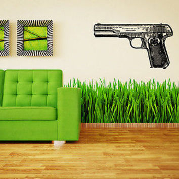 Colt Wall Sticker Decal Hand Gun Firearm Colt 1911 Gun Wall Art Decor 3809