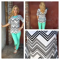 Black & White Chevron Blouse