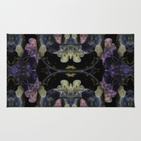 Symmetreats - Floral Gravity Rug by Symmetreats