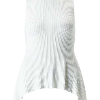 Cream Sleeveless Hanky Hem Top - View All - Apparel