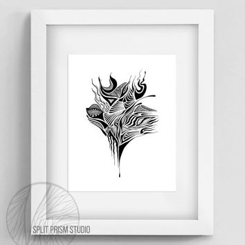 Original Art Print, Minimal, Print, Art, Digital File, Wall Art, Black and White, Abstract, Modern Art, Graphic Design, Instant Download