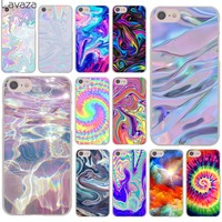 Lavaza Abstract Rainbow Ripple Tie Dye art Hard Cover Case for Apple iPhone 8 7 6 6S Plus 5 5S SE 5C 4 4S X 10 Coque Shell