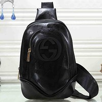 Gucci Women Fashion Pattern Leather Backpack Crossbody Bag