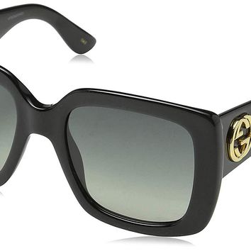 Gucci GG0141S Oversize Square Sunglasses 53 mm