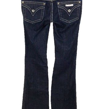 Hudson Fine Tailored Jeans Signature Boot Cut Low Rise Form Fitting Women's 26 - Preowned