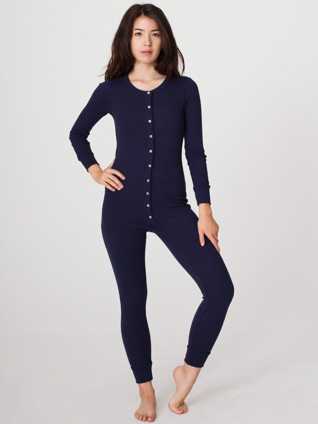 76e1800ffd rsad300w - Unisex Rib Henley One-Piece from American Apparel