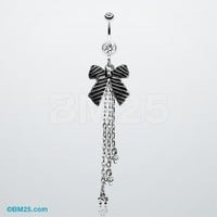Cute Ribbon Bow Belly Ring