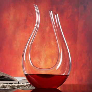 1500ML Big Decanter Handmade Crystal Red Wine Brandy Champagne Glasses decanter Bottle Jug Pourer For Family Bar Birthday Gift