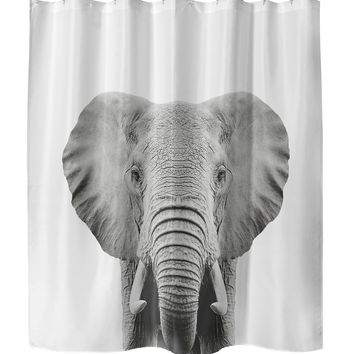 ELEPHANT Shower Curtain By Vivid Atelier