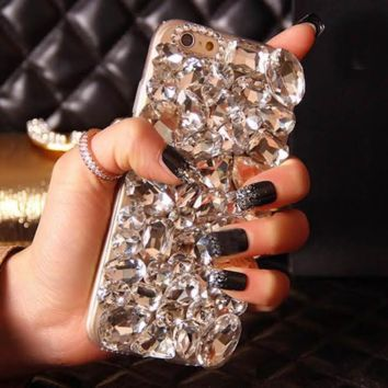 Rhinestone Diamond Case Galaxy Note 7 5 4 3 S7 S6 Edge For iPhone 7 7Plus 6 6S 6Plus