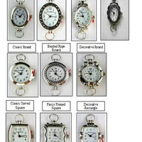 Watch Face,Narmi and Geneva Silver Looped Watch Faces.Beading Watch Face-1 Piece