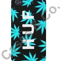 Huf Plant Life iPhone 5 Case Marijuana Weed Leaf Black/Teal Cases & Co.