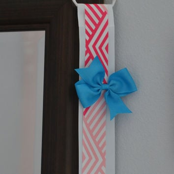 Hair Bow Holder Organizer - Pink and White