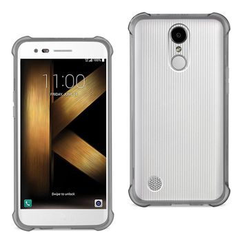 LG K20 V/ K20 Plus Clear Bumper Case With Air Cushion Protection (Clear Black)