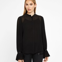 Pleated Sleeve Blouse - Karl Lagerfeld