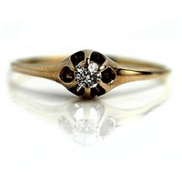 .15 Carat Victorian Solitaire Diamond Ring - Antique Engagement Rings