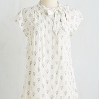 Mid-length Short Sleeves Up, Up, and Amaze Top by ModCloth