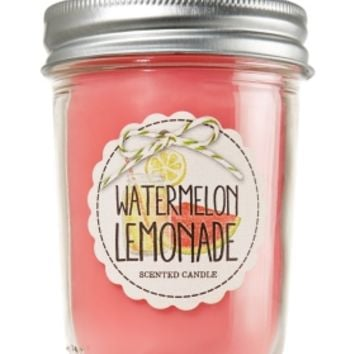 Mason Jar Candle Watermelon Lemonade