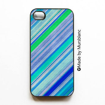 iphone 4 case  Water Colors Painting Blues Greens by HipsterCases