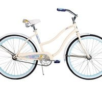 Huffy Bicycle Company Women's Cruiser Good Vibrations Bike, Gloss Creme, 26-Inch