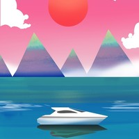 Mountain Yacht, an art print by Sunny Seth