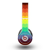 The Rainbow Thin Lined Chevron Pattern Skin for the Beats by Dre Original Solo-Solo HD Headphones