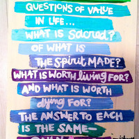 Answer is Love canvas by JeuneBelle on Etsy