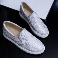 Scale Pattern Loafers Women Platform Shoes 3293
