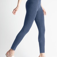 Waist Band Denim Legging