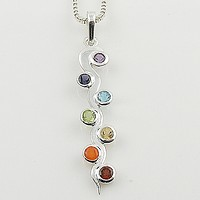 Chakra Wave Sterling Silver Pendant