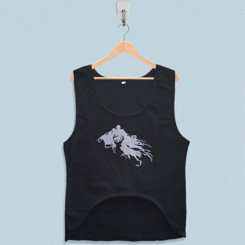 Women's Crop Tank - Harry Potter Stag Patronus and Dementor