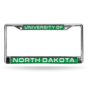 North Dakota Fighting Sioux NCAA Laser Chrome License Plate Frame
