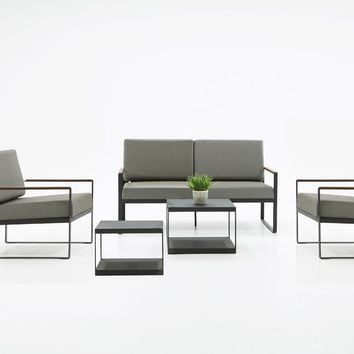 Renava Corozal Outdoor Grey Loveseat Sofa Set