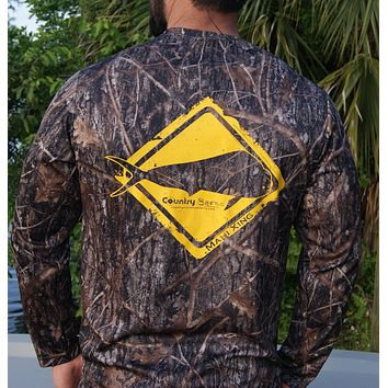 Mahi Crossing Camo UPF Long Sleeve Shirt