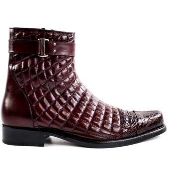 Libero Quilted Leather Cap Toe Boot by Belvedere
