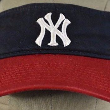 DCK4S2 Red & Blue New York Yankees Logo baseball Embroidered Visor Hat cap adjustable