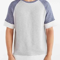 BDG Colorblocked Raw Edge Short-Sleeve Sweatshirt-
