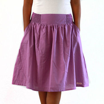 Purple Skirt, Midi Skirt in Shades of Purple, Bridesmaid Skirt, Spring Skirt