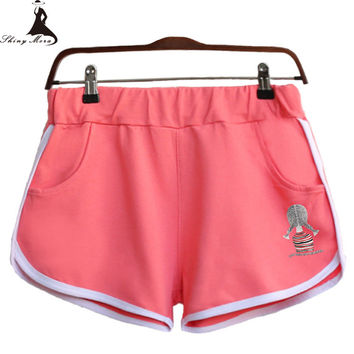 2017 New Fashion Casual Women Shorts Candy Color Ladies Short Fitness Ladies Summer Shorts Sportswear Short