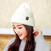 Cotton Knitted hats For Winter Autumn Hip-hop Style Beanies Gorros For Women good quality casual caps Thick Female Skullies Hats