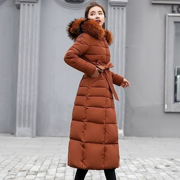 Cottonpadded Thickening Down Winter Coat Long Jacket Parka