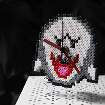 Super Mario Boo Ghost Clock. Desk/Wall Handmade Clock Display Included