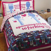 David & Goliath Spooning Duvet Collection in White and Navy - Spooning Duvet Collection in White and Navy - All Bedding Sets - Bedding Sets - Bed & Bath