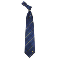 Michigan Wolverines NCAA Oxford Woven Mens Tie