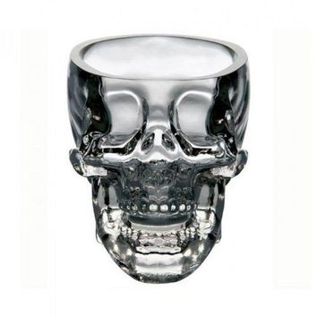 Skull-shaped Crystal Glass Wine Cup