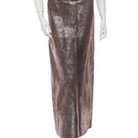 Chanel Metallic Suede Skirt w/ Tags