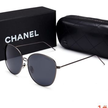 Chanel Fashion Women Personality Summer Style Sun Shades Eyeglasses Glasses Sunglasses 1# Black I12725-1